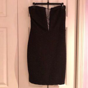 Dresses & Skirts - Black rhinestone illusion bodycon dress